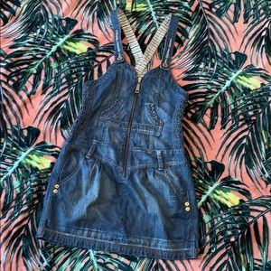 DKNY JEANS Denim Overall Dress Size Small